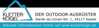Logo Kletterkogel - Streifen - kurz